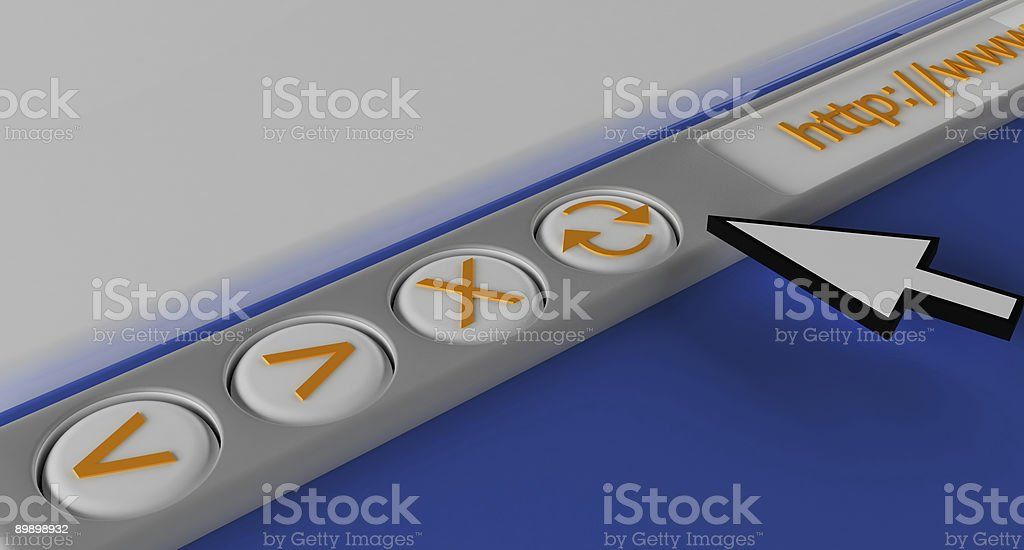 3d browser bar royalty-free stock photo
