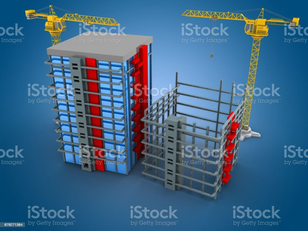 3d building stock photo