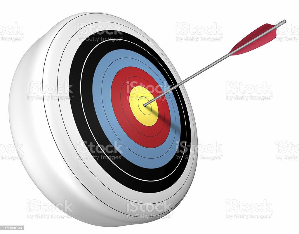 3d bullseye and arrow royalty-free stock photo