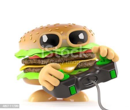 istock 3d Burger gamer 480111299