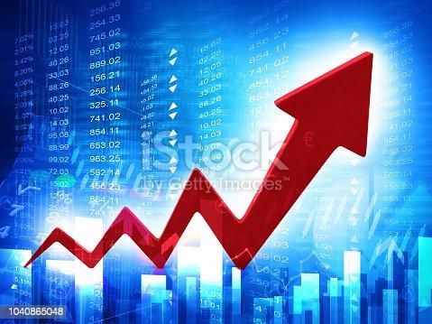istock 3d business arrow graph 1040865048