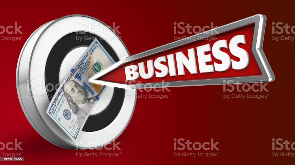 3d business arrow royalty-free stock photo