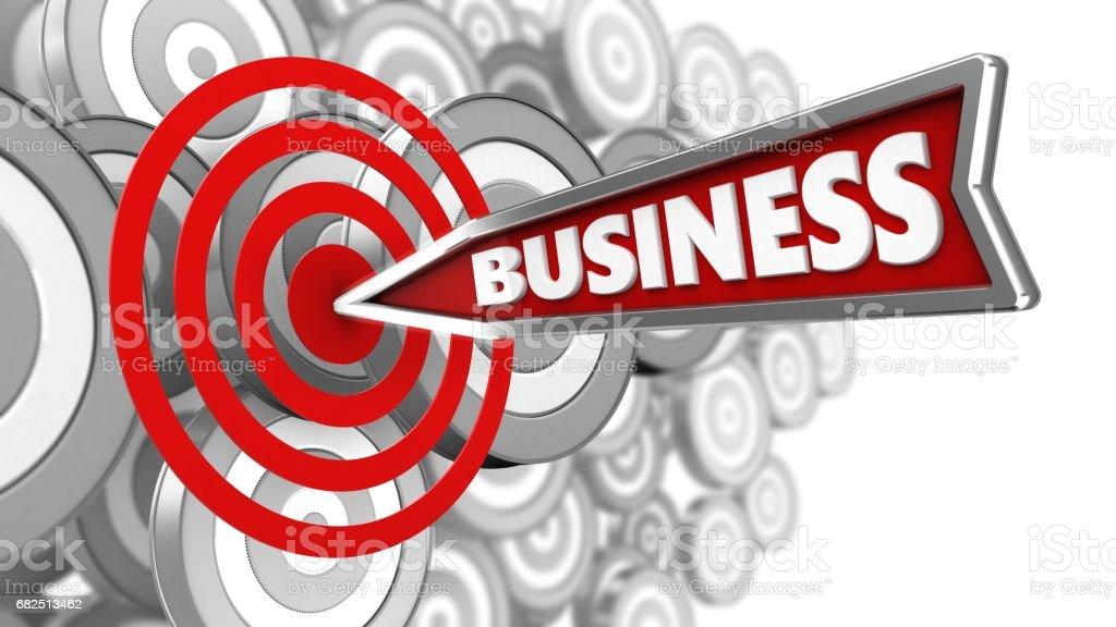 3D Business Pfeil Lizenzfreies stock-foto