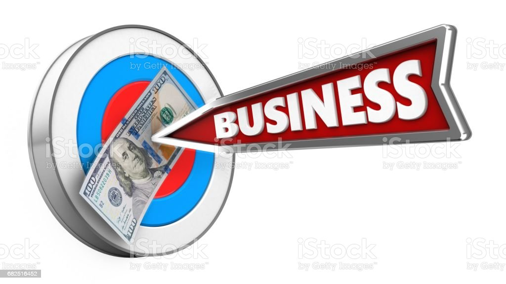 3d business arrow foto stock royalty-free