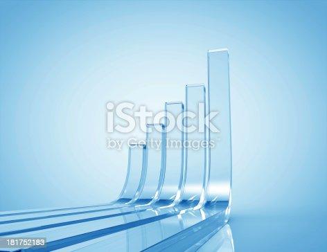 istock 3d Business Graph 181752183