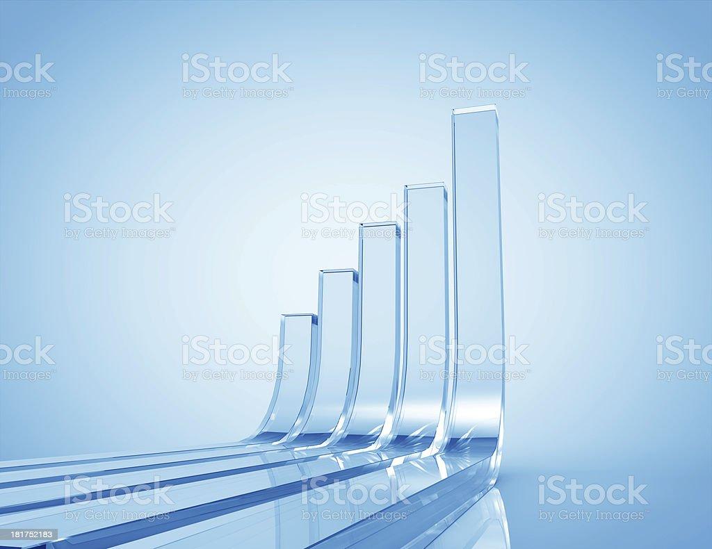 3d Business Graph stock photo