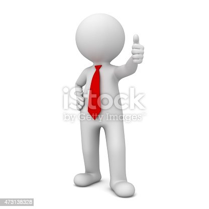 471353682 istock photo 3d business man showing thumbs up 473138328