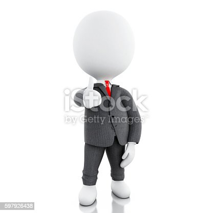 471353682istockphoto 3d business people with thumbs up 597926438