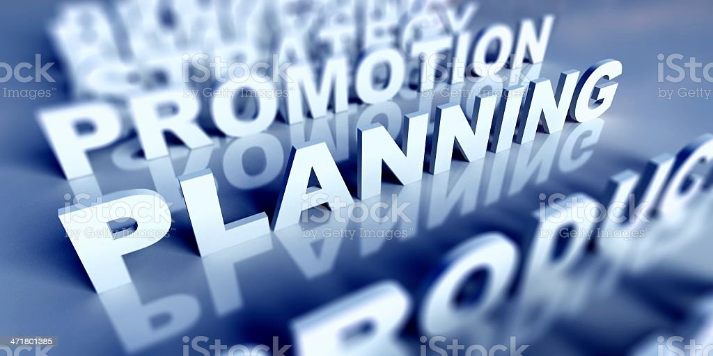 3d Business text table and planning royalty-free stock photo