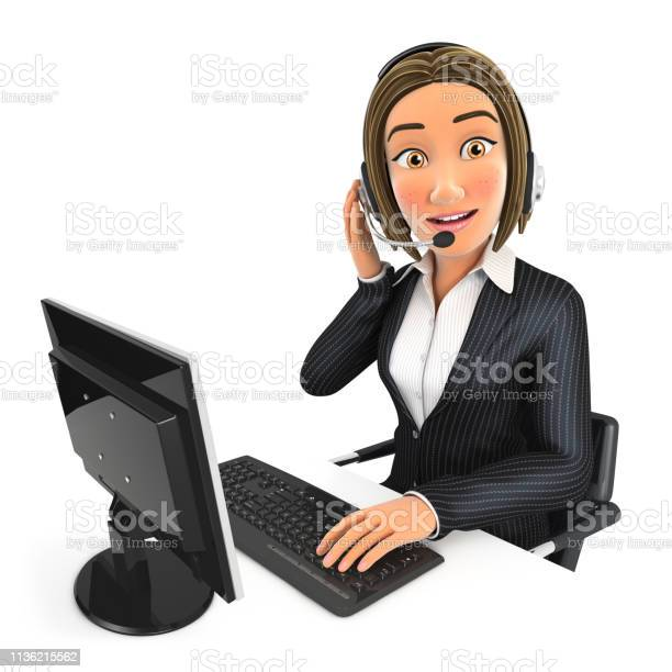 3d business woman call center picture id1136215562?b=1&k=6&m=1136215562&s=612x612&h=vrayv8zydpab1lgojk7zrotjvwj0qrecteugoe kw8y=
