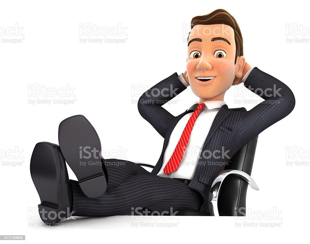 Photo de stock de d homme daffaires de détente avec pieds sur