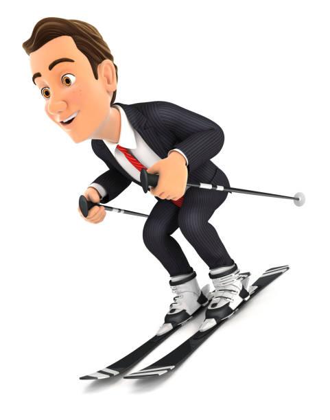 Comic Skifahren