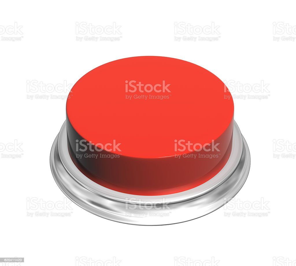 3d button of red color - foto de stock
