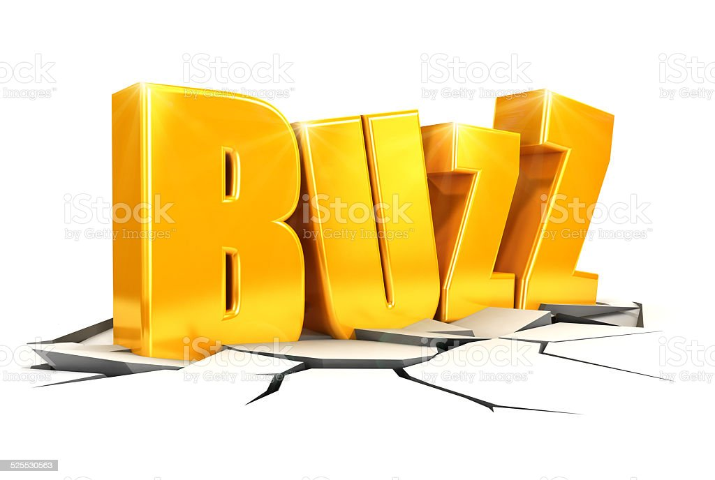3d buzz concept stock photo