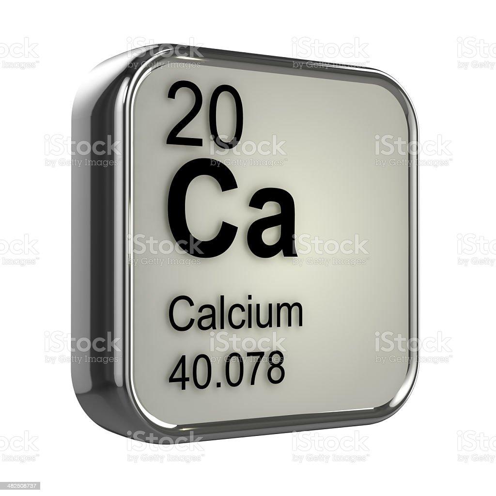 3d Calcium element stock photo