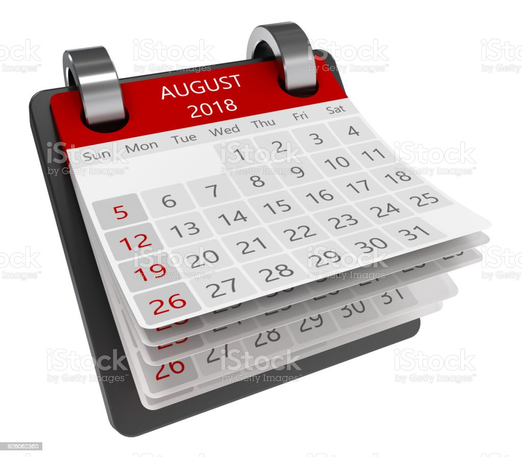 3d calendar stock photo