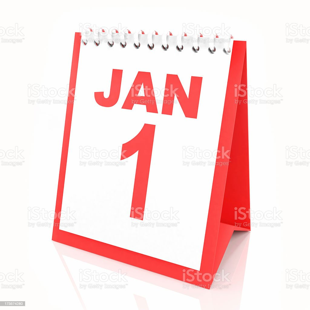 3d calendar showing new year royalty-free stock photo