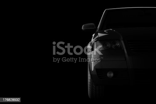 istock 3d car silhouette on black background 176828532