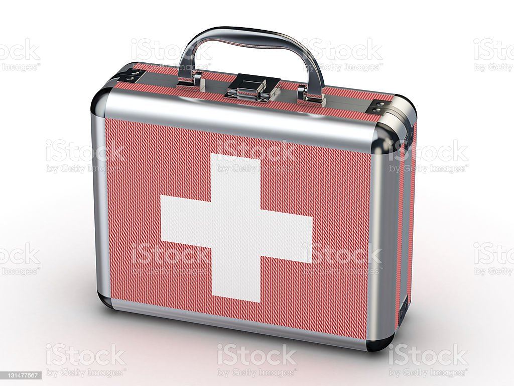 3d carbon fiber first aid kit royalty-free stock photo