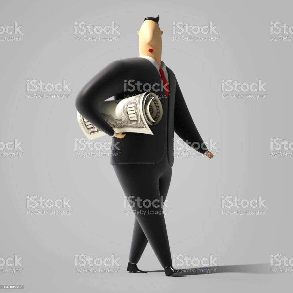 suits office. 3d Cartoon Characters In Office Suits Royalty-free Stock Photo