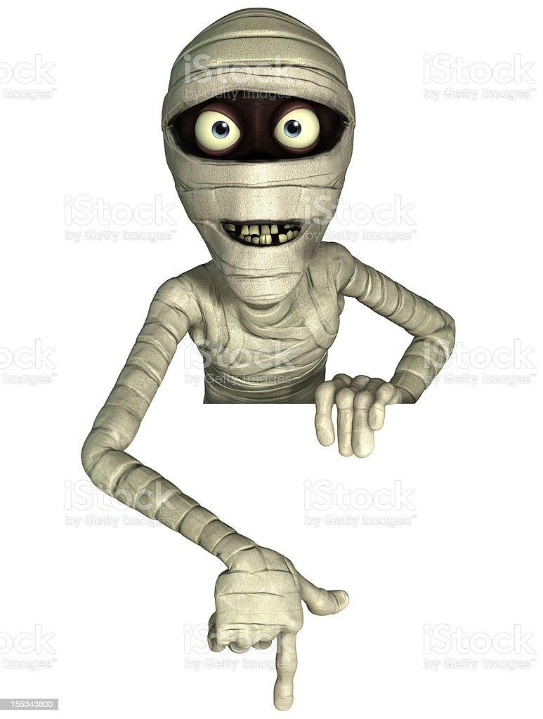 3d cartoon halloween mummy royalty-free stock photo