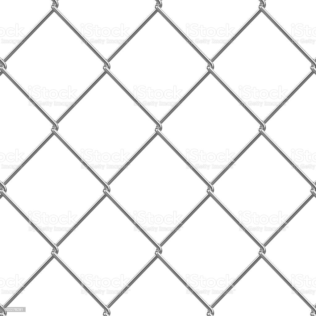 3d Chain link fence stock photo