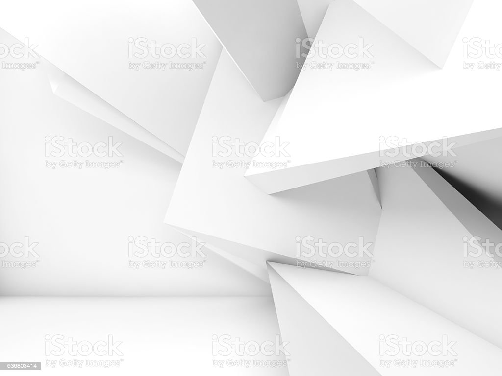 3d chaotic geometric decoration stock photo