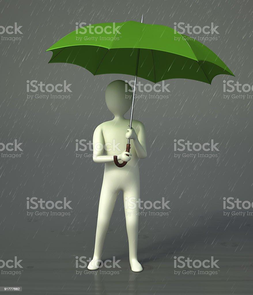 3 d Charakter hält einen Regenschirm – Foto
