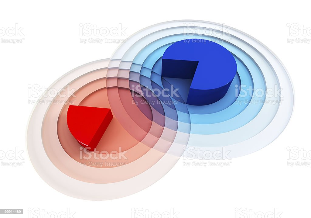 3d chart crossing royalty-free stock photo