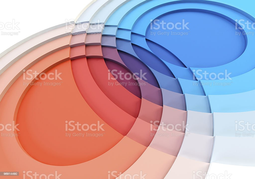 3d charts crossing royalty-free stock photo