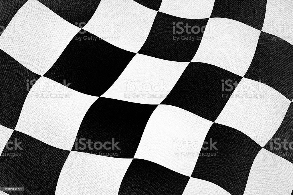 3d checker flag royalty-free stock photo