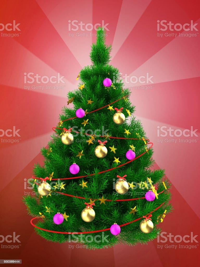 Weihnachtsbaum Rot.3d Weihnachtsbaum über Rot Stockfoto Und Mehr Bilder Von Baum