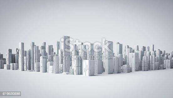 istock 3d city 619630898