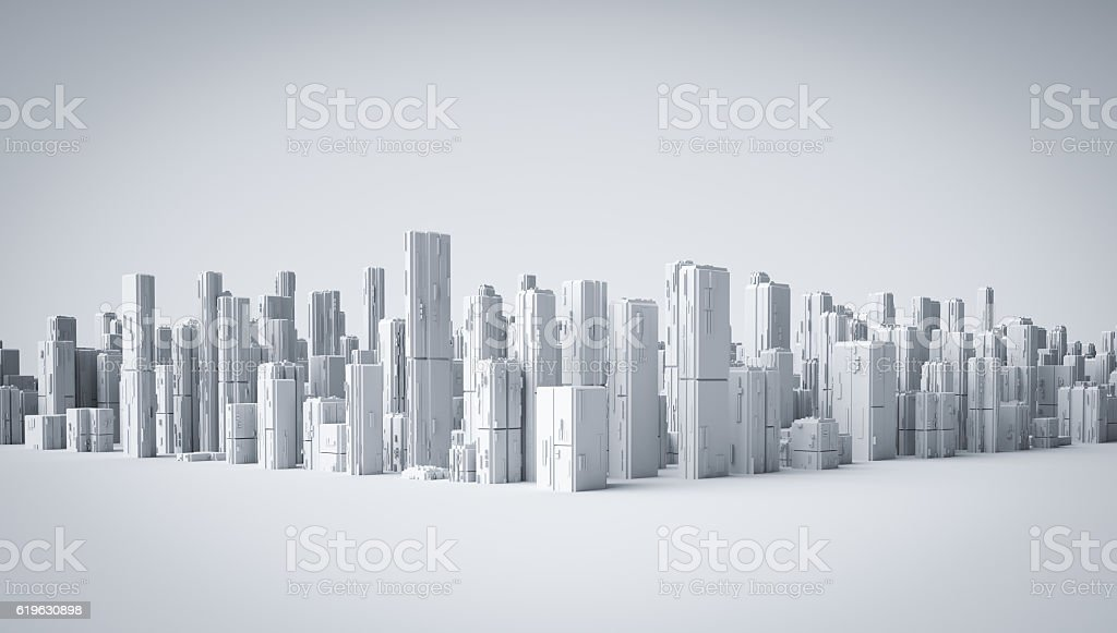 3d city stock photo