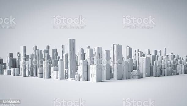 3d city. 3d Render