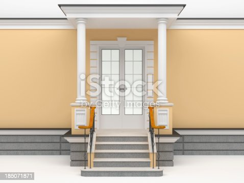 902034612istockphoto 3d classic facade entrance template 185071871