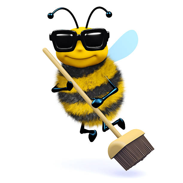 3d Cleaner bee stock photo