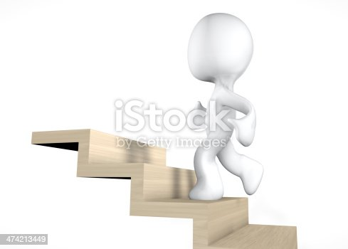 3d climbing stairs
