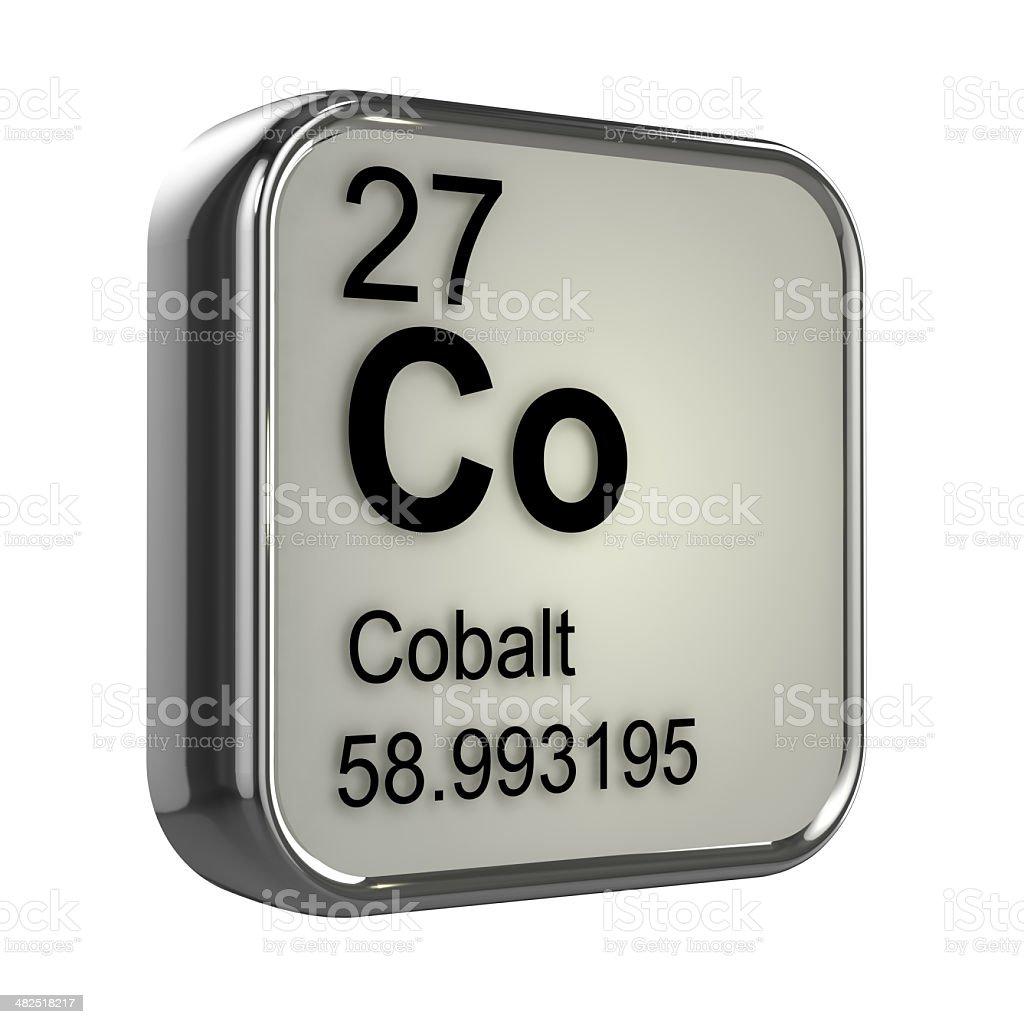3d Cobalt element stock photo