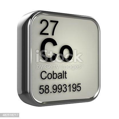 3d Cobalt Element Stock Photo More Pictures Of Atom Istock