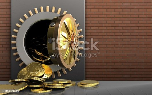 istock 3d coins over red bricks 918938698