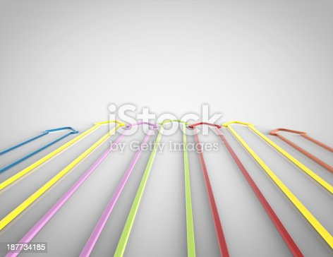 istock 3d Colorful Arrows 187734185