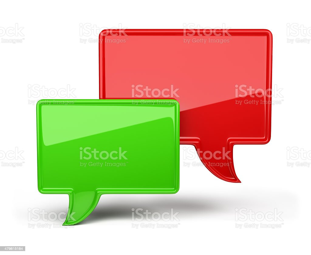 3d colorful bubble speech stock photo