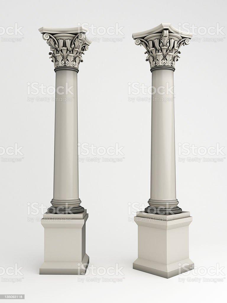 3d column royalty-free stock photo