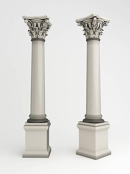 colonne 3 d - chapiteau colonne architecturale photos et images de collection