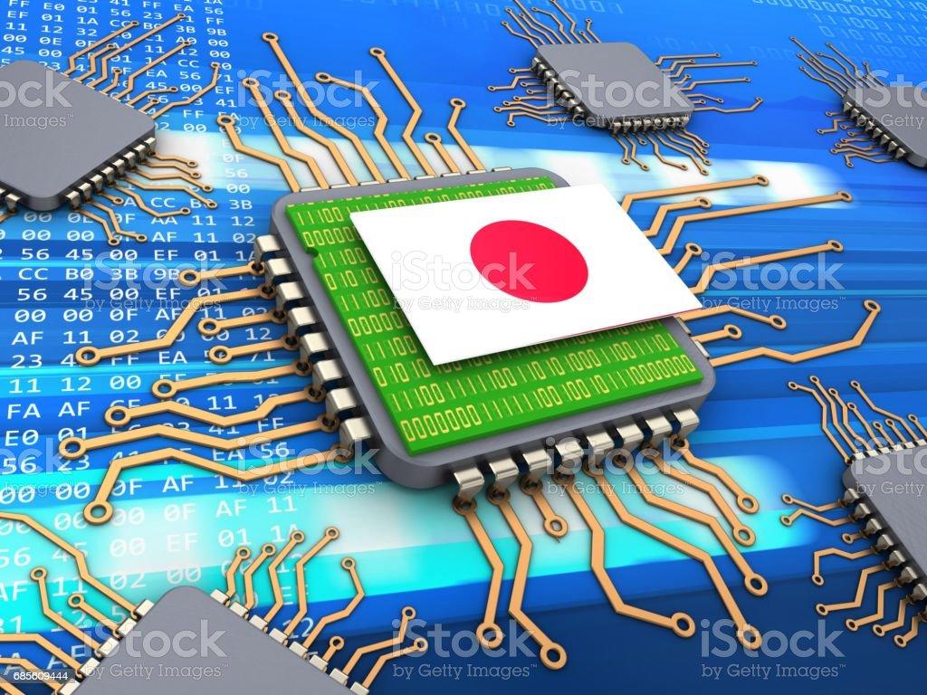 三維電腦晶片 免版稅 stock photo