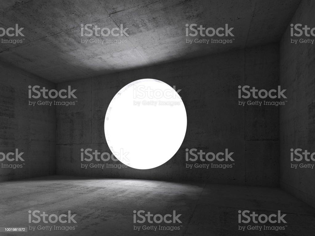3d Concrete interior background, empty room stock photo