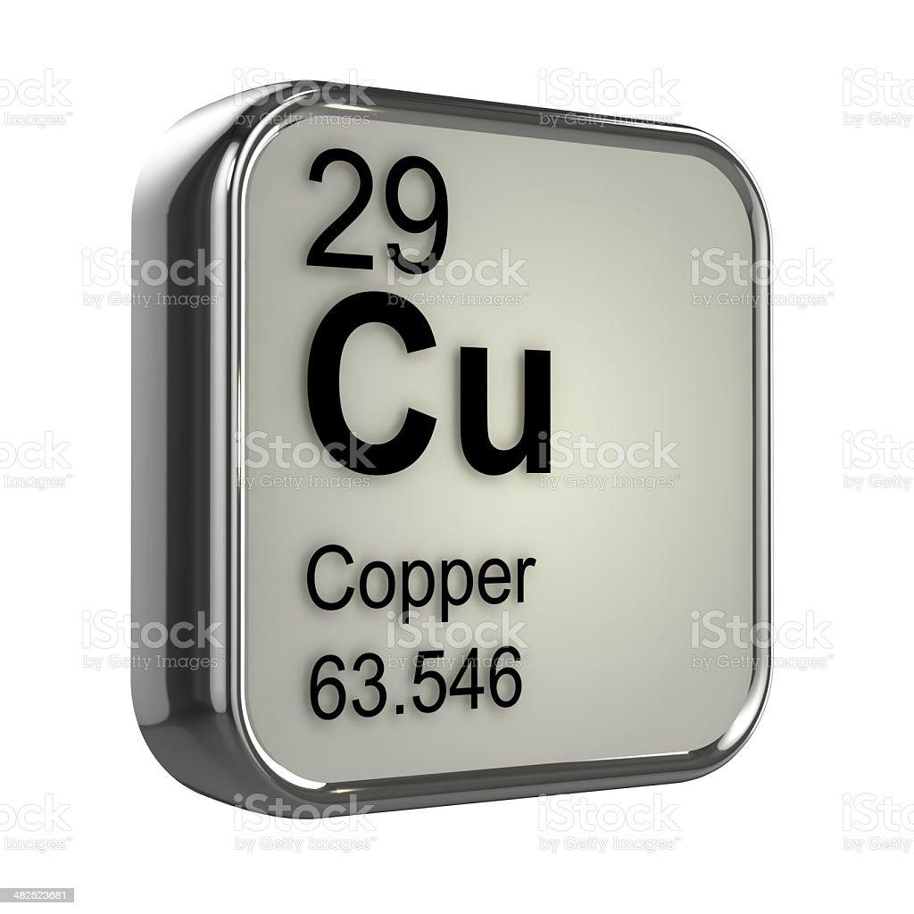 3d Copper element stock photo
