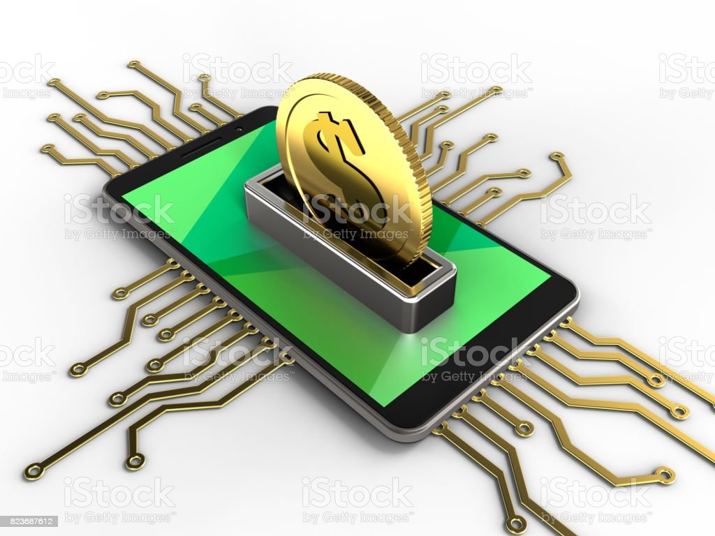 3d coin stock photo