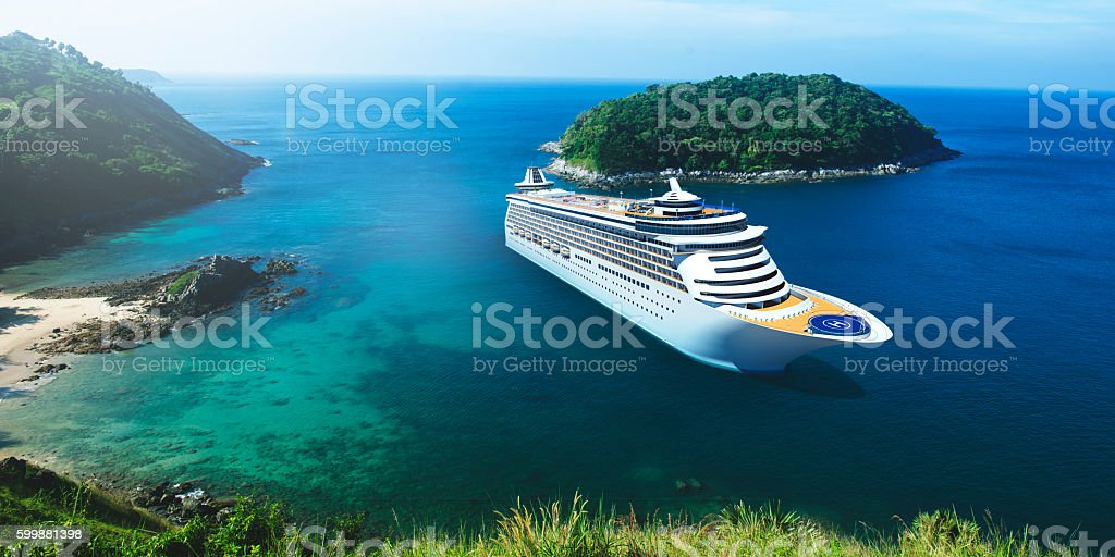 3d Cruise Ship Vacation Holiday Summer Illustration Concept圖像檔